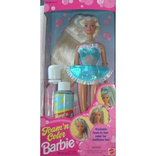Foam 'N Color Barbie: Washable Foam-in Hair Color for Bathtime Fun! (青)