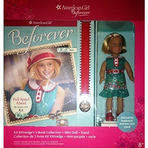 American Girl Doll Beforever Kit Kitt赤ge Mini Doll & 3 book Collection
