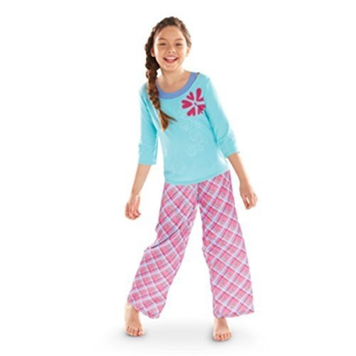 American Girl CL MY AG PETALS & PLAID PJ'S SIZE SMALL 7/8 for Girl Pajamas NEW