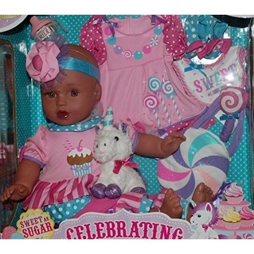 Celebrating Baby 18 inch vinyl Doll, Sweet as Sugar, 褐色 Skin