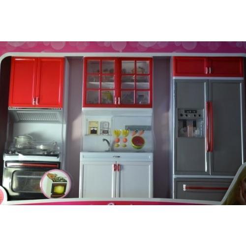 Barbie Sized Dollhouse Furniture- Modern Comfort Kitchen Refrigerator Sink Stove