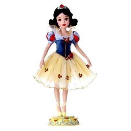Brass Key Disney Snow 白い Porcelain Ballerina Doll - 17