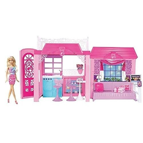 Barbie ピンク Tastic Glam Vacation House & Doll Exclusive Set