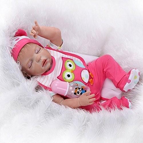 "Lifelike Skin Soft Vinyl Silicone 20/"" Sleeping Reborn Baby Girl Doll Newborn"