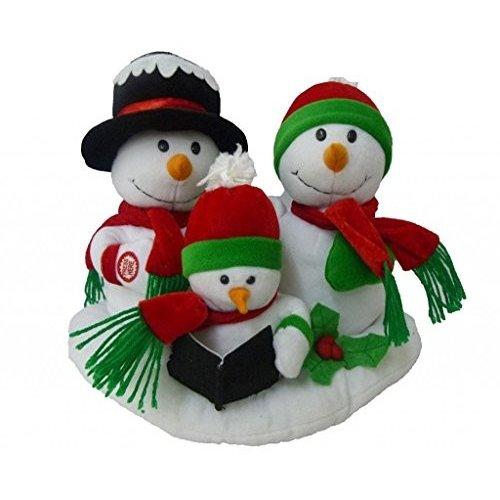 Singing Snowman Family Trio Musical Plush Toy with Motion