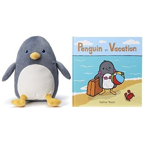Penguin On Vacation Book and Plush Penguin