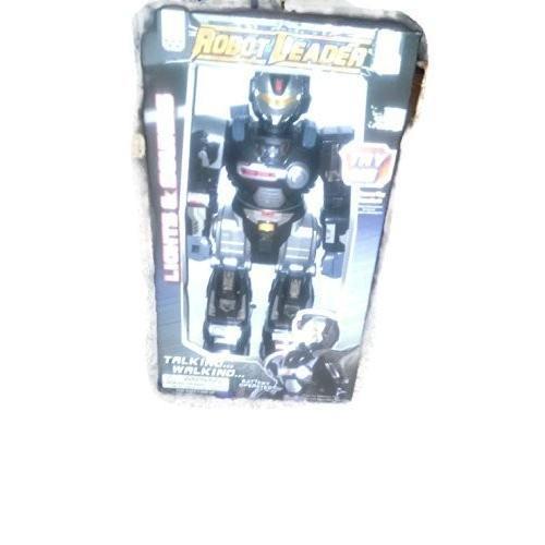 Lights & Sounds Walking & Talking Robot Leader 黒