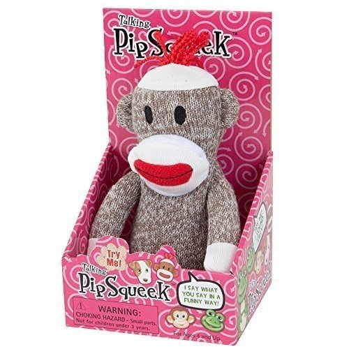 Bits and Pieces - Pip Squeeks Sock Monkey-Talks Back to You, Fun Sock Monkey, Recording Any Voice,
