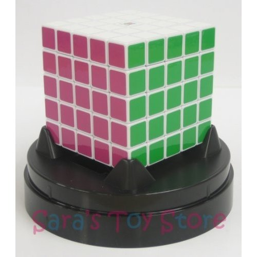 Eastsheen 白い 5x5x5 Magic Rubik's Cube - with plastic dome stand