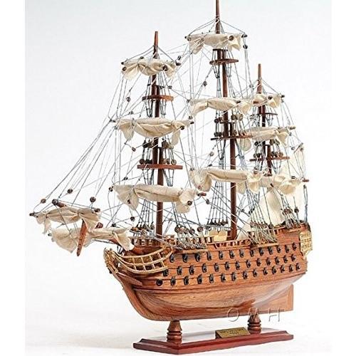 イギリス海軍 軍艦 HMS Victory ヴィクトリー ネルソン提督 21インチ 模型 完成品