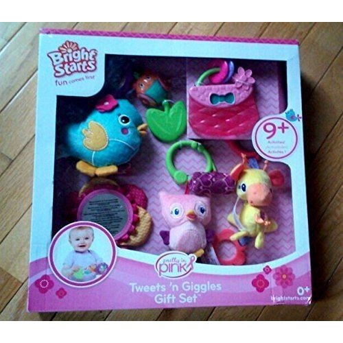 Fisher Price Bright Starts Baby Rattles Plush Carseat Gift Set Figures Playset 0 Months