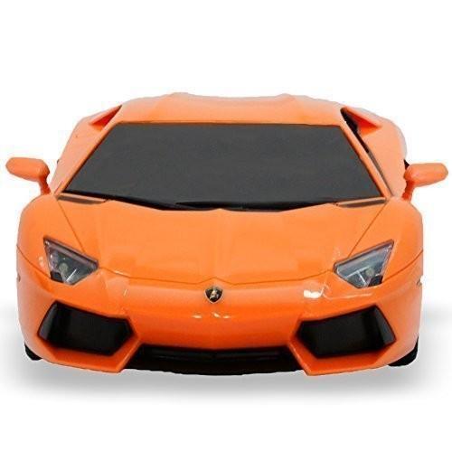 RW Lamborghini Aventador RC Car Toy Radio Remote Control Car 1 18 Scale, オレンジ
