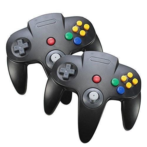 Set of 2, Optimum Nintendo 64 Game System Controllers Wi赤 N64 Gamepad Joysticks
