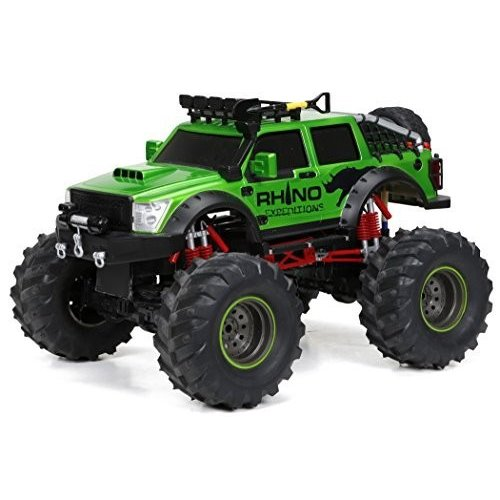 New Bright F/F 9.6V 4x4 Rhino Expeditions RC Vehicle (1:12 Scale), 緑