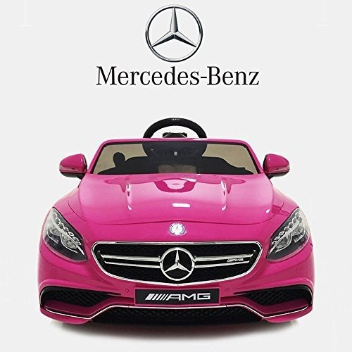 12V Style Mercedes Benz S63 ピンク Ride On Car Kids ATV Electric Powe赤 Wheels MP3 Remote RC