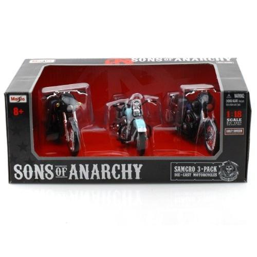 SONS of ANARCHY Harley-Davidson (ハーレーダビッドソン) Motorcycles 1/18 (boxed set) MA32184-3SET ミ