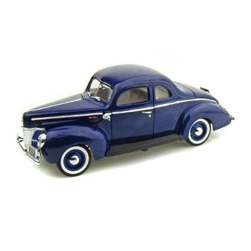 MotorMax (モーターマックス) 1940 Ford (フォード) クーペ 1/18 青 MM73108-BL ミニカー ダイキャスト