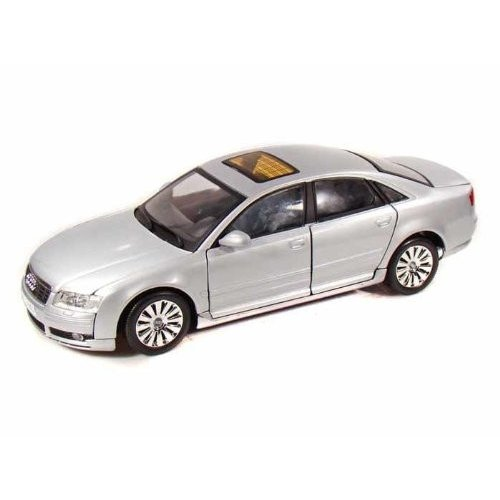 MotorMax (モーターマックス) 2004 Audi (アウディ) A8 1/18 銀 MM73149-SL ミニカー ダイキャスト 自