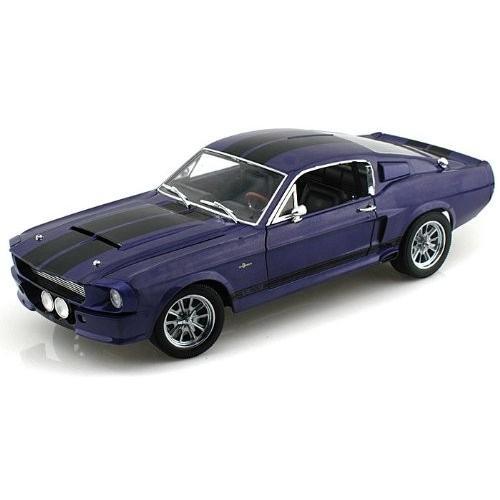 1967 Shelby GT500 1/18 紫の w/ 黒 Stripes SC197 ミニカー ダイキャスト 自動車