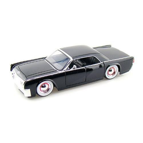 Jada Toys (ジャダトイズ) 1963 Lincoln Continental w/Baby Moons 1/24 黒 JA90607BM-BK ミニカー ダ