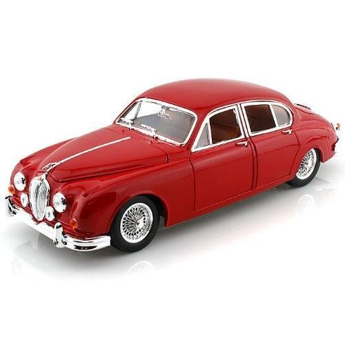 BBurago 1959 Jaguar (ジャガー) Mark II 1/18 赤 BB12009-RD ミニカー ダイキャスト 自動車