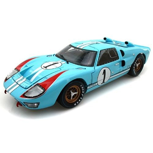 1966 Ford (フォード) GT40 Mark II #1 Le Mans Miles/Hulme 1/18 Gulf 青 (Clean version) SC411 ミニ