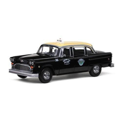 Police & Fire 1981 Checker A11 Taxi 1/18 黒 Cab SS02507 ミニカー ダイキャスト 自動車
