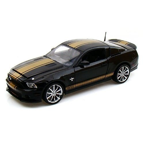 Shelby Collectibles 2012 Ford (フォード) Shelby GT500 Super Snake 1/18 黒 w/ゴールド Stripes SC322