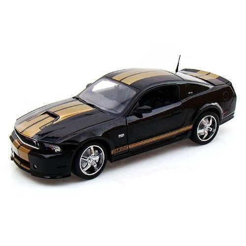 Shelby Collectibles 2012 Ford (フォード) Shelby GT350 1/18 黒 w/ゴールド Stripes w/ 1/64 Cobra Ltd 2