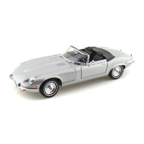 Yat-Ming - (ヤトミン) Road Legends 1971 Jaguar (ジャガー) E-Type 1/18 銀 YM92608-SL ミニカー ダ
