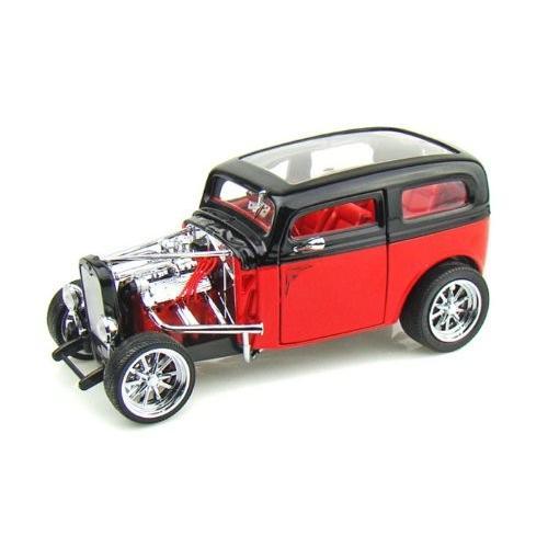 Yat-Ming - (ヤトミン) Road Legends 1931 Ford (フォード) Model A Custom 1/18 黒/赤 c/o YM30079-R