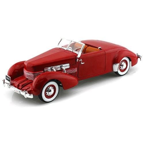 1937 Cord 812 Convertible 赤 1/18 赤 AWAMM1014 ミニカー ダイキャスト 自動車