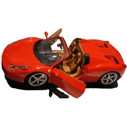 FERRARI フェラーリ 458 spider 赤 hotwheels ホットウィール 1:18