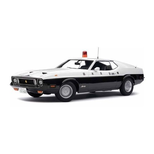 AUTOart 1971 Ford (フォード) Mustang (マスタング) MACH I Fastback 1/18 Japanese Police Car AA72826