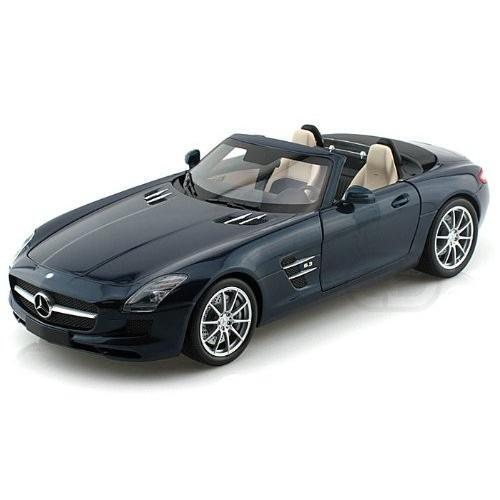 2011 Mercedes-Benz (メルセデス・ベンツ) SLS AMG Roadster 1/18 Metallic 青 MI100 039031 ミニカー