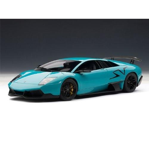 AUTOart Lamborghini (ランボルギーニ) Murcielago (ムルシエラゴ) LP670-4 SV 1/18 Turquoise 青 AA746