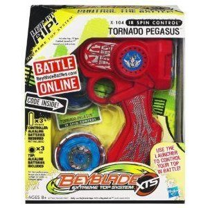 Beyblade (ベイブレード) Extreme Top System X-104 IR Spin Control Tornado Pegasus Top フィギュア お