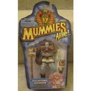 1997 Mummies Alive Fighting Armon Powers up with Ram Armor アクションフィギュア 人形 フィギュア お