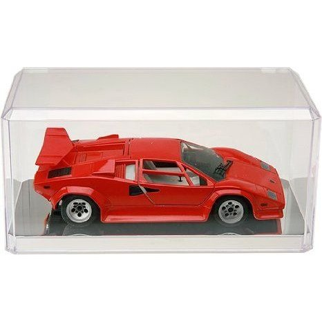 4 Clear Acrylic Display Cases (With Mirror) For 1:32 Scale Cars - 8