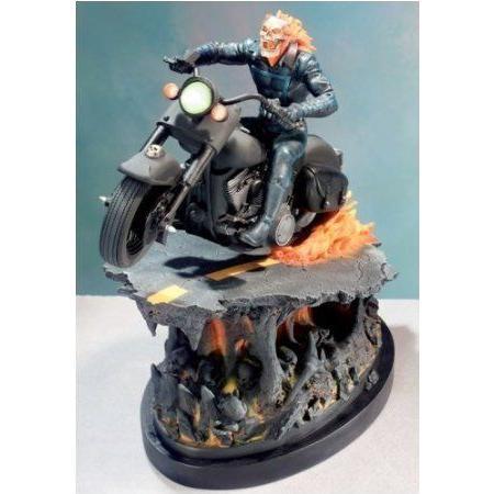 Ghost Rider Painted Statue from Marvel (マーブル) Comics フィギュア おもちゃ 人形