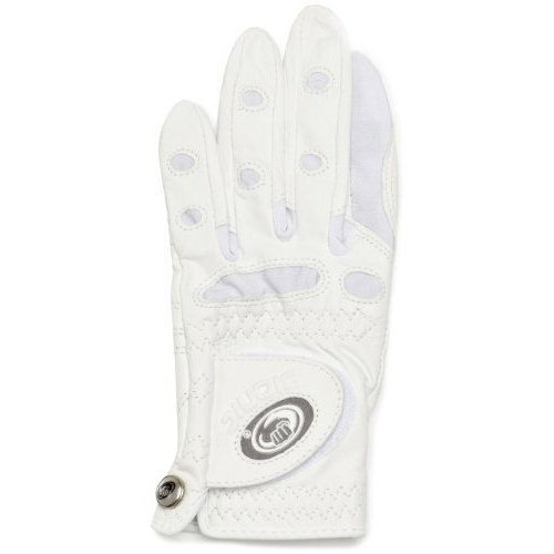Bionic Women's Classic All 白い Golf Glove Left Hand Large