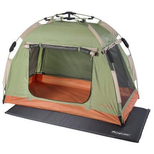 4ステップで簡単組み立て★ミニシェルター 小型テント Lightspeed Outdoors社 緑