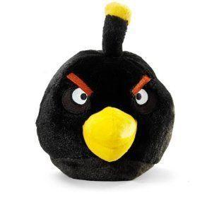 Angry Birds アングリーバード Plush 8-Inch 黒 Bird with Sound ぬいぐるみ 人形