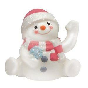 Precious Moments Waving Snowman Figurine