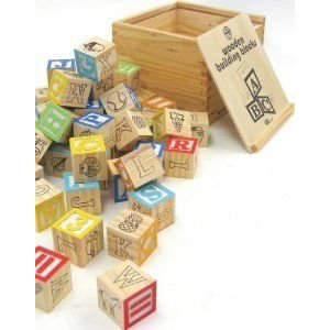 House of Marbles Wooden Building Blocks ブロック おもちゃ
