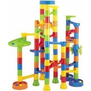 Construction Building Sets: 88 pcs Super Marble Run ブロック おもちゃ