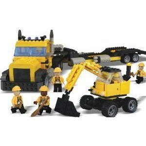 Best-Lock 500pc Lorry and Excavator ブロック おもちゃ
