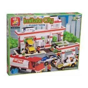 Sluban City Scene Auto Service Center 727 ピース Lego (レゴ) Compatible ブロック おもちゃ