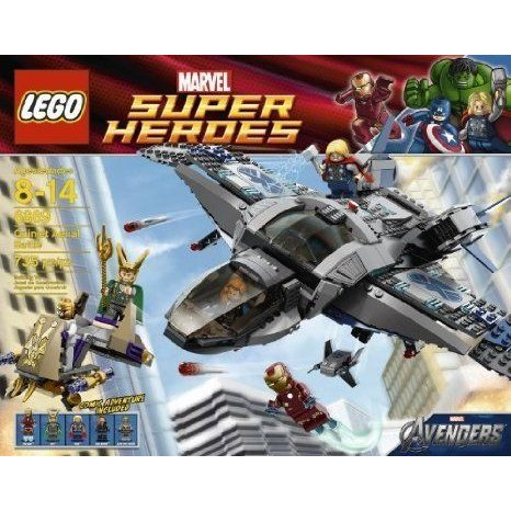 Includes 5 Minifigures: Thor, Iron Man (アイアンマン) , 黒 Widow, Loki And Foot Soldier - LEGO