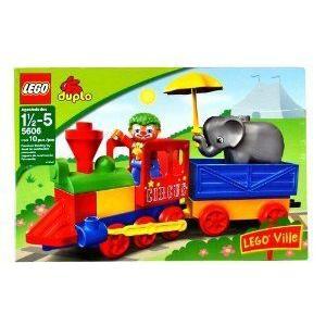 Lego (レゴ) Ville Year 2008 Duplo (デュプロ) Series Set # 5606 - My First Train Set with Clown フ